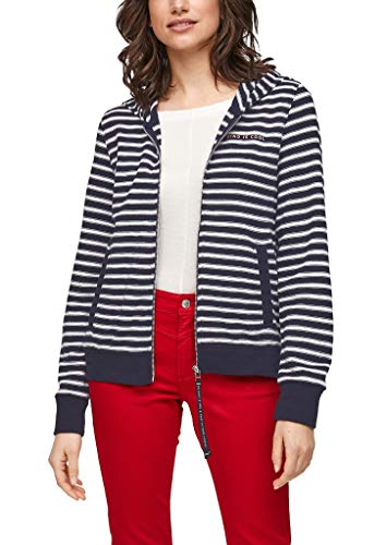 s.Oliver Damen 120.10.103.14.150.2061571 Sweatshirt, Navy Stripes, 44