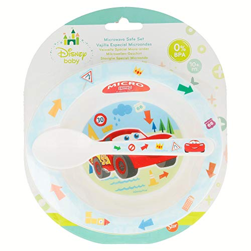 Winnie the Pooh – Set micro-ondes 2 pièces Disney Baby Cars Rouge