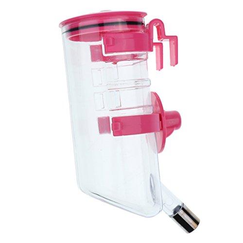 Sharplace Dispensador Bebedor de Agua Conejo Perro Animal Doméstico Gato Dispensador - Rosado