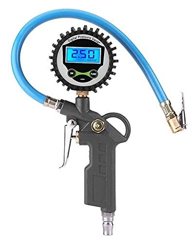WDX- 1 PCS 0-20 0 PSI Testador de medidor de calibre de presión de aire de neumático de neumático digital LCD Herramienta de monitoreo de la pistola de la inflación del neumático para el vehículo de a