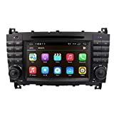 Android 8.1 auto audio stereo per Mercedes Benz W203 W209 1024 * 600 touch lettore DVD dop...