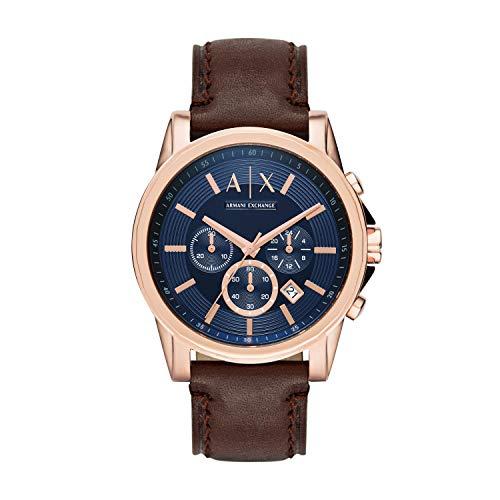 Armani Exchange Reloj para Hombre de Cuarzo con Correa en Cuero AX2508