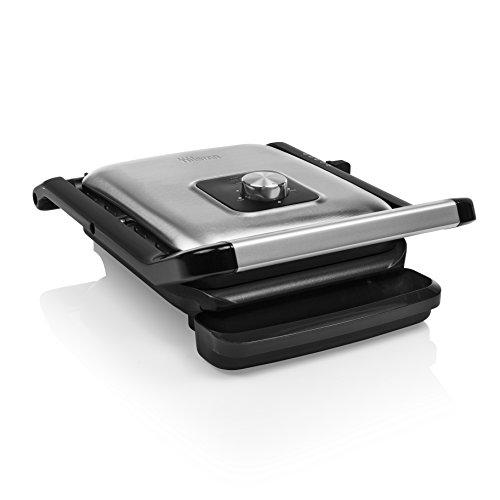 Tristar GR-2844 Parrilla de contacto con termostato ajustable - 2000 vatios - superficie de cocción 25 x 21 cm