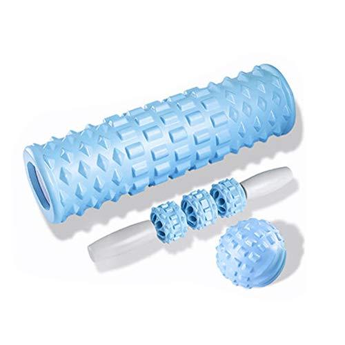 KinderALL Rulo Pilates Roller Foam Palo de Masaje de Rodillo Muscular La Pierna de Gran Rodillo de Espuma Rollo de Espuma Gimnasio de Ejercicio de Blue,Set