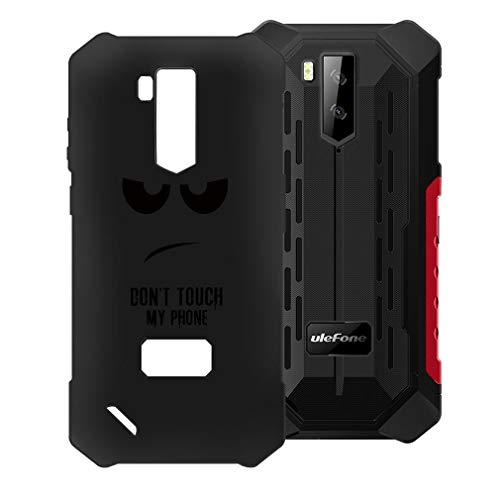 HHUAN Funda para Ulefone Armor X3 Negro Cover Ultrafino Suave Silicone No me toques Caso de Protección Anti-Rasguño TPU Bumper Carcasa Case para Ulefone Armor X3 (5.50')