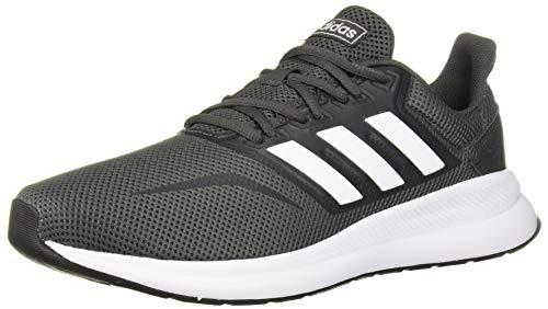 adidas Men's RunFalcon Wide Running Shoe, Grey/White/Black, 9.5 W US