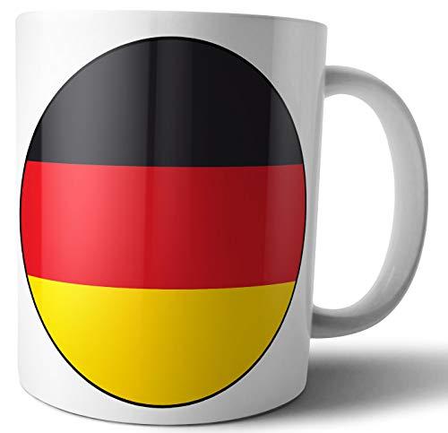 Taza de té con diseño de bandera de Alemania