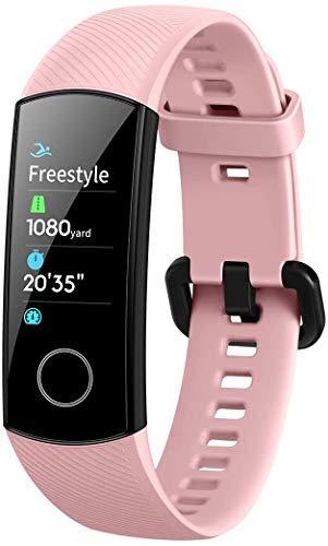 HONOR Band 5 Smart Watch, SpO2 (Sauerstoffsättigung) und Herzfrequenzmesser, Smart Activity Armband Schlafmonitor, Smart Band Kalorienzähler, Schrittzähler, Gesundheitsübungsuhr für Frauen, Rosa