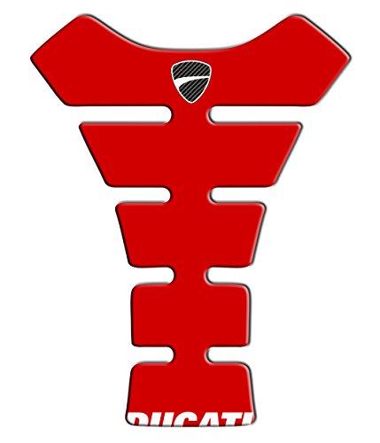 """Tankpad Motorad Draht Muster Tankschutz Kompatibel """"Ducati Rot 2 """""""