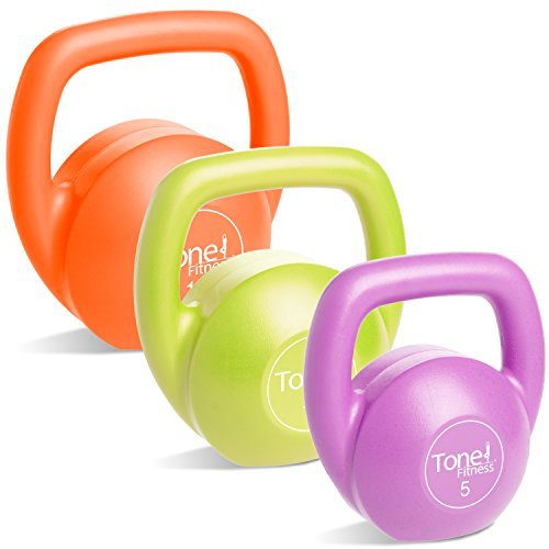 Tone Fitness SDKC2S-TN030 Kettlebell Body Trainer Set with DVD, 30 lbs.