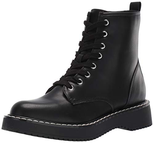 Madden Girl Women's KURRT Combat Boot, Black Paris, 8.5 M US