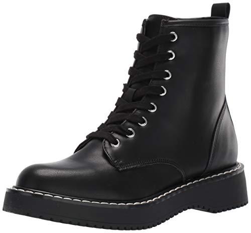 Madden Girl Women's KURRT Combat Boot, Black Paris, 7 M US