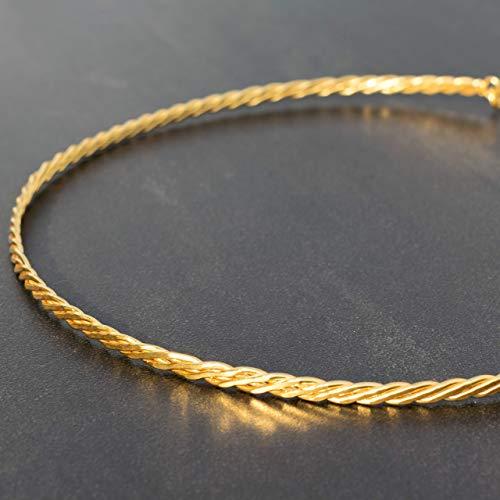Halsband aus Sterlingsilber, goldene Halskette choker, Braut Halskette, Hochzeit Halskette, minimalistische Halskette Manschette, Statement Kette
