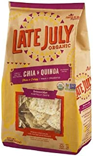 Late July Organic Restaurant Style Tortilla Chips Chia & Quinoa (Pack of 9) - Pack Of 9