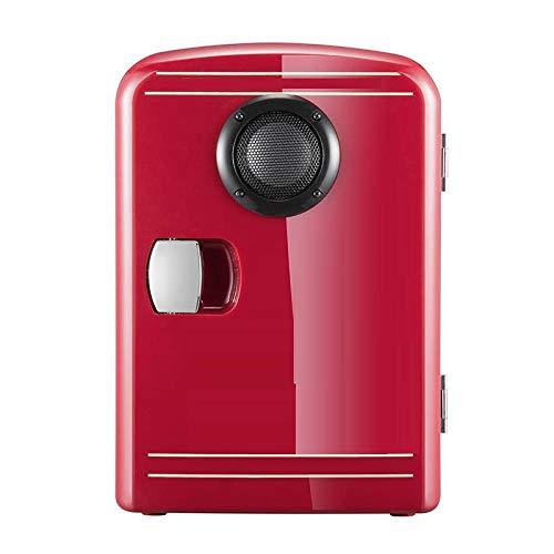 Mini Nevera Eléctrica Nevera De Mesa Altavoz Bluetooth Refrigerador Coche Hogar Dormitorio Estudiante Cosméticos Caja De Calefacción Y Refrigeración