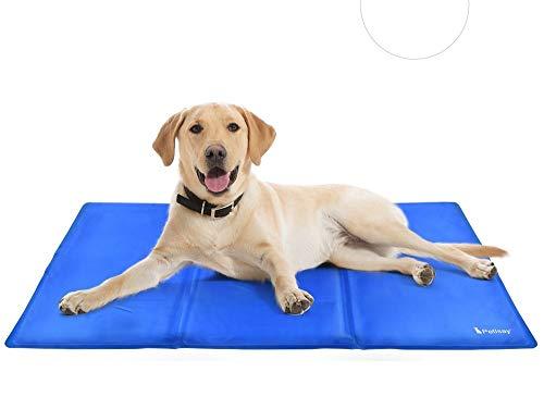 PetIsay Kühlmatte Hunde – Druckaktivierte Gel-Kühlmatte für Haustiere – Halten Sie Ihre Hunde und Katzen bequem den ganzen Sommer - Vermeiden Sie Überhitzung(90 * 50cm)