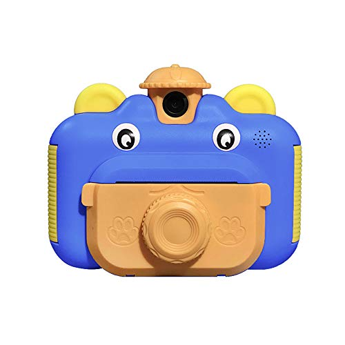 2.4 Inch Children Print Camera Best Birthday Christmas Kids Gifts Instant Print Camera for Kids Video Camera Camcorder Digital Children's Toys DV Cameras DIY Thermal Printing Black and White Camer