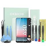 OKBICHI Écran LCD tactile Assemblée de rechange compatible avec Samsung Galaxy A40 A405 A405F (complet avec cadre) avec outil de remplacement et protecteur d'écran