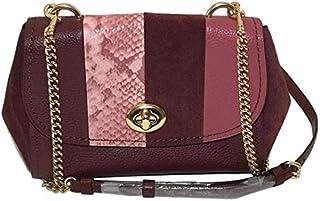 Coach Women's Faye Leather Material, Cross-body bag - Purple
