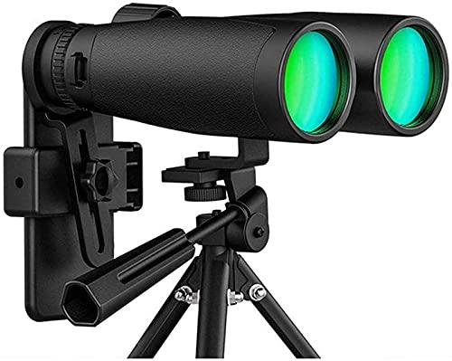 Prismáticos telescopio 12 x 50 para adultos con nuevo adaptador de fotografía de smartphone con poca luz, fácil enfoque, binocular impermeable, uso BAK-4
