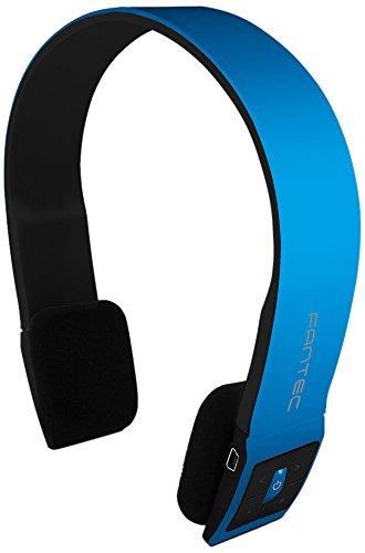 Fantec SHS-221BT Stereo Bluetooth Kopfhörer mit Freisprechfunktion und integriertem Akku, blau