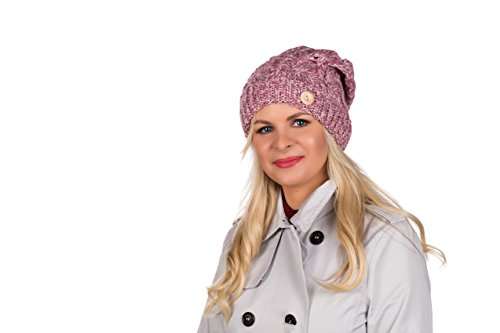 Sarah B - Gorro de punto - para mujer Rosa Meliert Lurex...