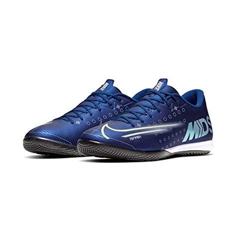 Nike Herren Vapor 13 Academy MDS Ic Sneaker, Blau Blue Void Metallic Silver White 100, 42.5 EU