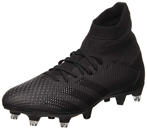adidas Predator 20.3 SG, Scarpe da Calcio Uomo, Core Black/Core Black/DGH Solid Grey, 43 1/3 EU