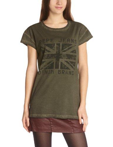 Pepe Jeans Soul Camiseta, Green - Vert (Army), 36 para Mujer