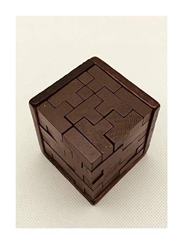 Houten kubus puzzel for volwassenen tetris cube 3D Puzzel Magic Blocks Gift Bureau Puzzels Challenge logisch denken Jigsaw blokken ingesteld Moeilijk Brain Challenge