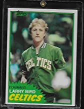 Topps Larry Bird 1981-82 Basketball Card #4 - Boston Celtics - NBA Debut - Stored in a Protective Plastic Display Case!!