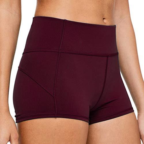 Women's Compression Shorts Sports Running High Waist Tummy Control Yoga Shorts