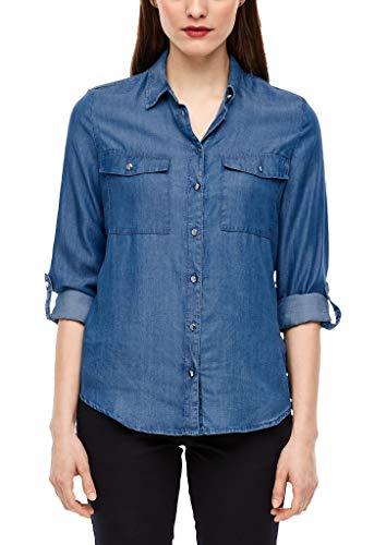 s.Oliver RED Label Damen Hemdbluse aus Light Denim Blue 46