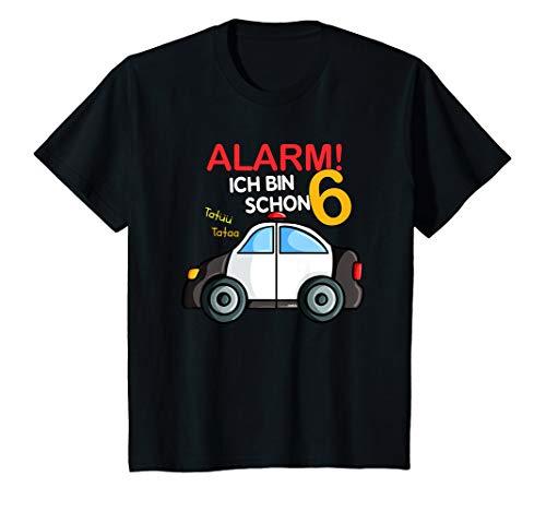 Kinder Geburtstagsshirt 6 Jahre Polizei Auto 6. Geburtstag T-Shirt