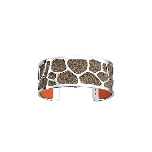 Les Georgettes - Bundle - Armreif Silber 25mm Leopard inkl. Ledereinsatz Pailletten bunt/Orange