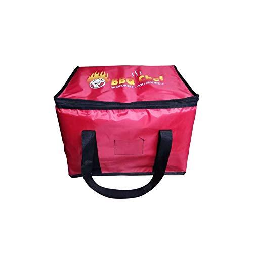 Bolsa de entrega de pizza, bolsa de almacenamiento de alimentos de tela Oxford engrosada para picnic, pizza, restaurante, bolsa de entrega