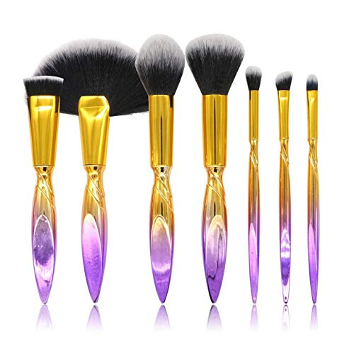MEIYY Pinceau de maquillage 7 Pieces Of Irregular Makeup Brush Set Eye Shadow Brush Cosmetic Mixing Brush Tool Foundation Concealer Make Up