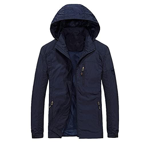 Más tamaño primavera otoño Mens Casual militar sudadera con capucha chaqueta hombres impermeable