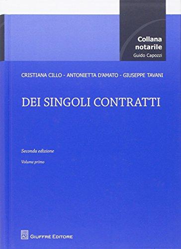 Dei singoli contratti: 1