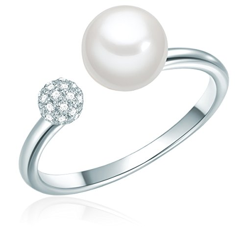 Ring Sterling Silber Süßwasser-Zuchtperlen weiß