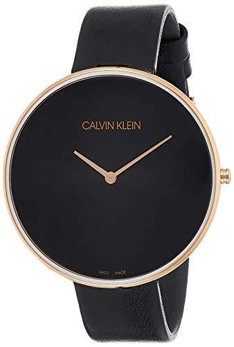 Calvin Klein Damen Analog Quarz Uhr mit Leder Armband K8Y236C1