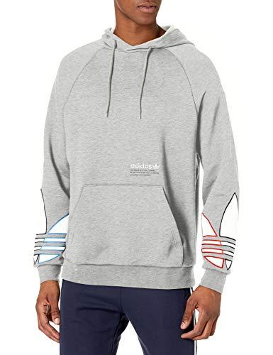 adidas Originals,mens,Tricolor Hoodie,Medium Grey Heather,Small