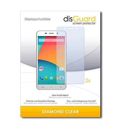 disGuard 2 x Bildschirmschutzfolie Cubot X9 Schutzfolie Folie DiamondClear unsichtbar