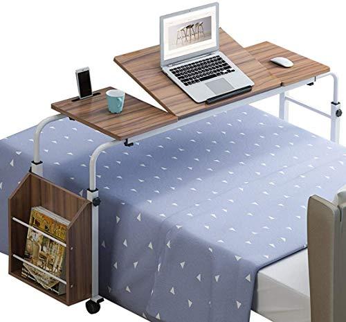 LY88 Tragbarer Überbetttisch mit Rädern, höhenverstellbar Breite Werkbank Überbett Büro Schreibtisch Laptop Riser Tisch Sofa Beistelltisch Stehpult für den Heimgebrauch im Krankenhaus