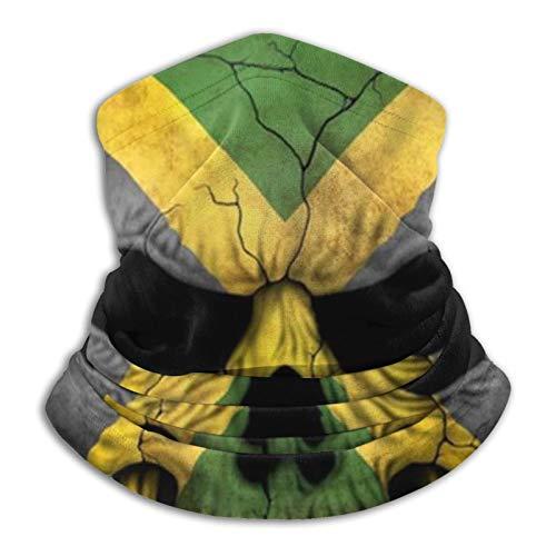 YBEAYQYXR Pasamontañas con diseño de bandera de Jamaica, color negro, unisex, de microfibra, protector solar, resistente al viento, para exteriores