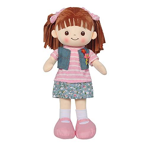 Linzy Toys, 16 'Little Sweet Hearts muñeca interactiva Suave de Felpa Rag, Cara Bordada y Ropa extraíble (90958)