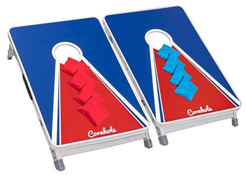 Original Cornhole Board Set - College - 2 Cornhole Boards, 8 Bean Bags und Regelwerk