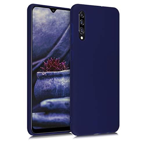 kwmobile Cover Compatibile con Samsung Galaxy A30s - Cover Custodia in Silicone TPU - Backcover Protezione Posteriore - Blu Oceano