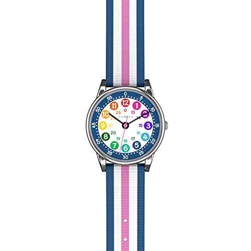 Cander Berlin MNA 1130 P - Reloj de pulsera para niños y niñas, color azul