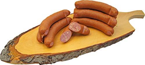 Käse Knacker | Käsewurst nach Debrecziner Art | Krainer | Snackwurst | Mettwurst geräuchert mit Emmentaler | 10 x 100g